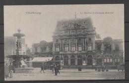 CPA 50  -CHERBOURG -  Théatre  (et Fontaine Mouchel En Fonctionnement )    ( Ref Ch 179 ) - Cherbourg