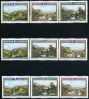 A10-33-1) Liechtenstein - 3x Michel 806 / 808 - ** Postfrisch - Moritz Menzinger, Gemälde - Liechtenstein