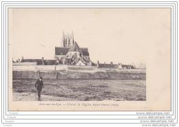AIRE SUR LA LYS  DANS LE PAS DE CALAIS CHEVET DE L´EGLISE SAINT PIERRE  1896  CPA  RARE - France