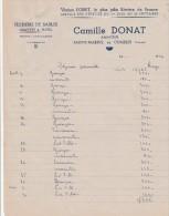 Lettre 1946 Camille DONAT Armateur Pêcherie De Sables SAINTE MARINE COMBRIT Finistère Verso Publicité Collée Odet - 1900 – 1949