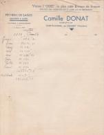 Lettre 1939 Camille DONAT Armateur Pêcherie De Sables SAINTE MARINE COMBRIT Finistère Verso Publicité Collée Odet - 1900 – 1949