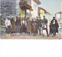 Salonique Tres Animée WW1 Officiers Francais En Tenue Et Notabilitees - Grecia