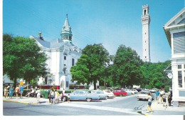 Town Hall And Pilgrim Monument, Commercial Street,Provincetown, Cape Cod, Massachusetts Tape Marks On Back - Cape Cod