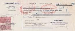 Lettre Change 20/4/1949 La Centrale Vétérinaire LES LILAS Pour Garges Les Gonesse - Lettres De Change
