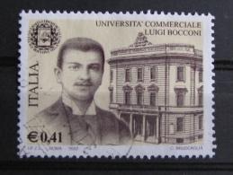ITALIA USATI 2002 - SCUOLE D´ITALIA UNIVERSITÀ´ BOCCONI MILANO  - SASSONE 2603 - RIF. G 2119 - LUSSO - 6. 1946-.. Repubblica