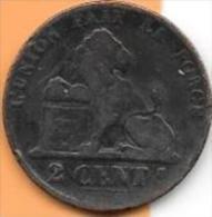 2 Centimes Cuivre 1856  Clas D 34 - 1831-1865: Léopold I.