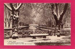 74 HAUTE-SAVOIE ANNECY, Le Canal Du Vassé Et Le Pont Des Amours Sous La Neige, (A. Gardet, Annecy) - Annecy