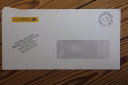 Enveloppe En Franchise La Poste Réclamations Rouen Courrier - Lettres Civiles En Franchise