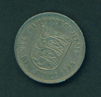 JERSEY  -  1968  10p  Circulated Coin - Jersey