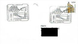 (222) Brief Mit SSt 23570 Lübeck 29.07.2005 Vor 100 Jahren Stapellauf Der PAMIR - Ships