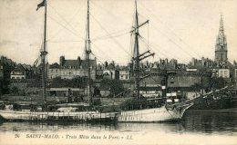 FRANCE -  SNT MARLO -Trois Mats Dans Le Port By LL - Good Sailing Ship - Saint Malo