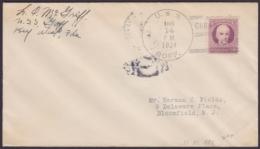 NA-42 CUBA US SHIP. 1934. SHIP GOFF COVER TO US. - Brieven En Documenten
