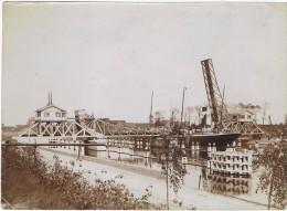B-5752    ZELZATE : Le Pont Du Chemin De Fer-uitgever Hamerlinck In De Grave Orginele Foto Size 163 X 119 Mm) - Zelzate