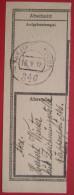 Feldpost 346 - Abschnitt Von Begleitadresse? 1918 Rumänien / Zensur Bukarest - Marcophilie - EMA (Empreintes Machines)