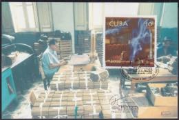 TMA-29 CUBA 2002. TARJETA MAXIMA FESTIVAL DEL HABANO TABACO TOBACCO - Maximum Cards