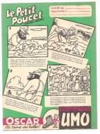 Protège Cahier Le Petit Poucet (nouvelle Version) Oscar La Reine Des Bottes! Production UMO Des Années 1960 Environ - Protège-cahiers