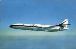 RP: AIR FRANCE PLANE / AVION ~ CARAVELLE IN FLIGHT - 1946-....: Moderne