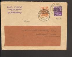 Fernbrief Aus Köln-Deutz /Bad Harzburg V.14.8.48 Mit Arbeiter 6 U.24 Pfg.Bandaufdruck, Der Brief Wurde Doppelt Verwendet - Bizone