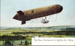 ADVERT CARD: THE NEW PARSEVAL DIRIGIBLE AIRSHIP - Dirigibili