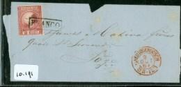 POSTHISTORIE * BRIEFOMSLAG Uit 1868 Uit 's-HERTOGENBOSCH Naar LIEGE LUIK BELGIE * NVPH  8 FRANCO KASTJE (10.191) - Storia Postale