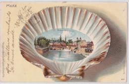 METZ - Städt Triebwerk - Litho Rosenblatt 1902 - Coquillage - Shell - TTB - Metz