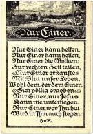 """German Vintage Postcard -Verses """"Nur Einer"""" - Postcards"""