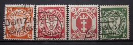 Danzig 1922 - 1937 Mi.Nr.214,246,104,149 - WZ Gestempelt    (M197) - Dantzig