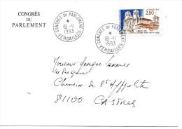 LIQUIDATION.....CONGRES DU PARLEMENT A VERSAILLES   ENVELOPPE  DU 19.11.1993  OBLITEREE - Curiosidades: 1990-99 Cartas