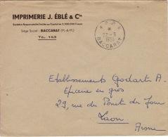 MEURTHE ET MOSELLE - P.P Baccarat- Enveloppe -CAD- TypeA6-Franchise- 1956 - 1921-1960: Modern Period