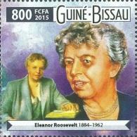 Guinea Bissau 2015 Eleanor Roosevelt 1v Stamp Mint 313 Michel 8060 - Non Classificati