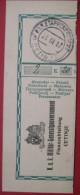 Feldpost - Abschnitt Von Postanweisung 1917 Etappenpostamt Cetinje - Machine Stamps (ATM)