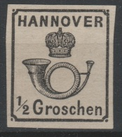 Allemagne - HANNOVER - 1860 - * - Michel 17 ND -  ½ Ggr  - Valeur 25€