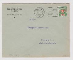 Heimat SO Olten 1934-01-03 Brief Portofreiheit #552 Kinderkrippe - Franchise