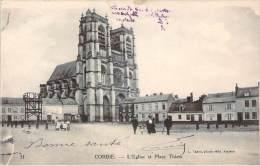80 - Corbie - L'Eglise Et Place Thiers - Corbie