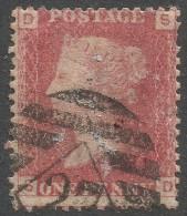 Great Britain. 1858-1879 QV 1d Red. Plate 106. Letters SD Cancel 27 In Diamond - 1840-1901 (Victoria)