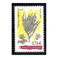 Timbre Andorre Français N°773 Le Thym - Francobolli