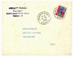 Enveloppe & Chèque : Arnaud Georges, Fourrages, Saint Martin De Crau / Timbre Fiscal / Banque ) - Agriculture