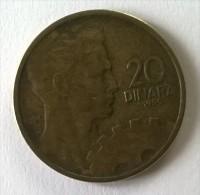 Monnaie -  Yougoslavie - 20 Dinara 1955 - - Yougoslavie