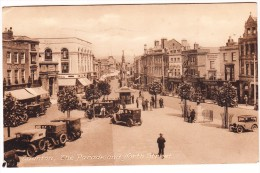 Taunton: OLDTIMER (BRASS ERA) CARS - The Parade And North Street   - (1942) - England - PKW