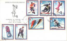 OLIMPIADA DE SAPPORO 1972 FDC ENERO DE 1972 PARAGUAY SOBRE RARE OLYMPICS - Winter 1972: Sapporo