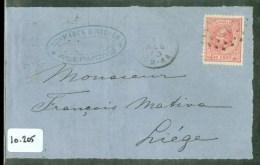 POSTHISTORIE * BRIEFOMSLAG Uit 1873 Van ROERMOND Naar LIEGE BELGIE * NVPH 21  (10.205) - Briefe U. Dokumente