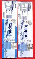 """504E - 2 étiquettes D´eau Différentes """" TOPPUR  """" Pour Collection - Etiquetas"""