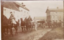 Photo 1915 FLERS-EN-TERNOISE (près Saint-Pol-en-Ternoise) - Départ De La 1ère Batterie Du 121ème RAL (A128, Ww1, Wk 1) - France