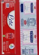 """522E - 2 étiquettes D´eau Différentes """" LETE  """" Pour Collection - Etiquettes"""