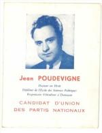 Brochure D'un Candidat à Une élection : Jean Poudevigne, Domazan - Autres Collections