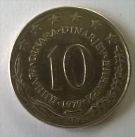 Monnaie -  Yougoslavie - 10 Dinara 1979 - - Yugoslavia