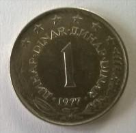 Monnaie -  Yougoslavie - 1 Dinara 1977 - - Yougoslavie