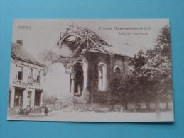 De Gebombardeerde Kerk Evergem ( REPRO Copie / Copy ) - Anno 19?? ( Zie Foto Voor Details ) !! - Evergem