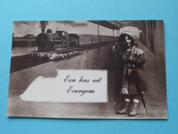 Een KUS Uit Evergem ( REPRO Copie / Copy ) - Anno 19?? ( Zie Foto Voor Details ) !! - Evergem