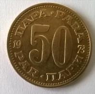 Monnaie -  Yougoslavie - 50 Para 1973 - - Yugoslavia